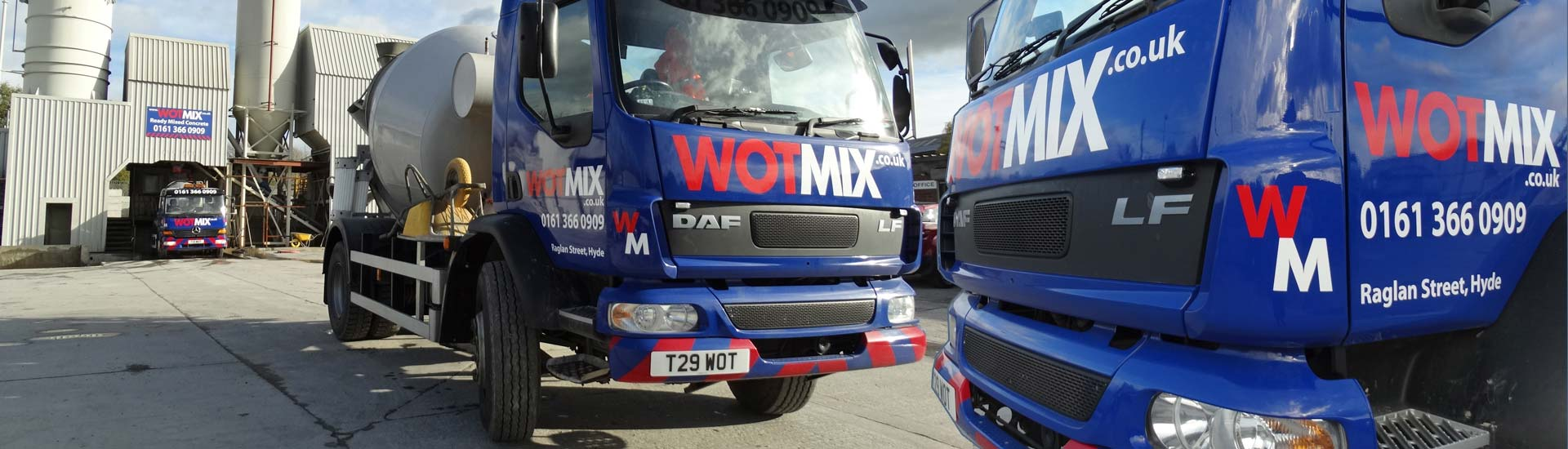 Wotmix 4m3 Mini Mix Concrete service in Manchester, Stockport and Surrounding Areas